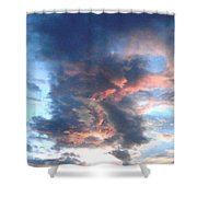 Fire In The Sky - 1 Shower Curtain