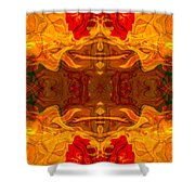 Fire In The Sky Abstract Pattern Artwork Shower Curtain