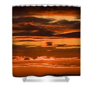 Fire In The Sky Shower Curtain by Anne Gilbert