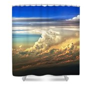 Fire In The Sky From 35000 Feet Shower Curtain by Scott Norris