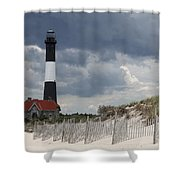 Fire Island Light From The Beach Shower Curtain