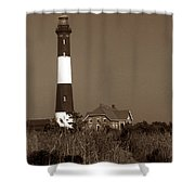 Fire Island Lighthouse Shower Curtain by Skip Willits