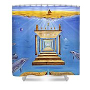 Fire Of Life Shower Curtain by Teresa Gostanza