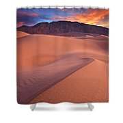 Fire On Mesquite Dunes Shower Curtain by Darren  White