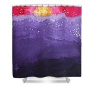 Fire On The Mountain Original Painting Shower Curtain
