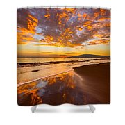 Fire Over Lahaina Shower Curtain