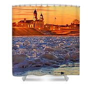 Fire Over The Clinton County Courthouse Shower Curtain