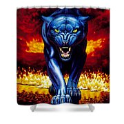 Fire Panther Shower Curtain
