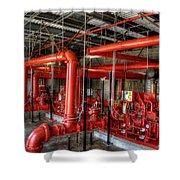 Fire Pump Shower Curtain