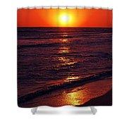 Fire Red Sunset Shower Curtain