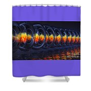 Fire Rings Shower Curtain