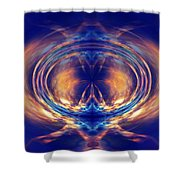 Fire Spin 1 Shower Curtain