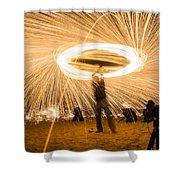 Fire Spinner Shower Curtain