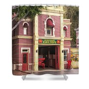 Fire Station Main Street Disneyland 02 Shower Curtain