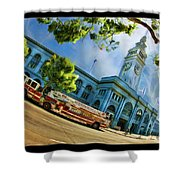 Fire Truck And Ferry Building Shower Curtain