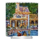 Fire Truck Main Street Disneyland Photo Art 02 Shower Curtain