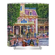 Fire Truck Main Street Disneyland Shower Curtain