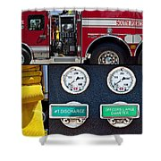 Fire Truck With Isolated Views Shower Curtain