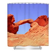 Fire Valley Arch Shower Curtain