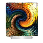 Fire Water Shower Curtain by Anthony Morris