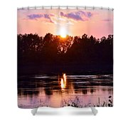 Fire Water Shower Curtain