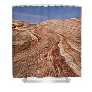 Fire Wave - Valley Of Fire Shower Curtain