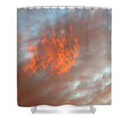 Fireball In The Sky Shower Curtain