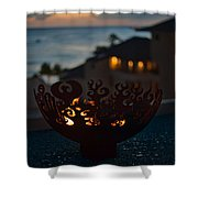 Firebowl At Night Shower Curtain