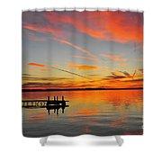 Firecracker Sunset Shower Curtain