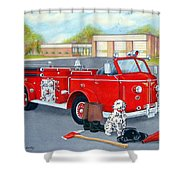 Firefighter - Still Life Shower Curtain