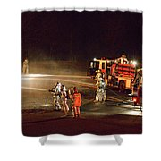 Firefighters At Work Shower Curtain