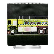 Firefighters Christmas 2 Shower Curtain