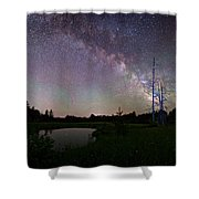 Fireflies Under The Stars Shower Curtain