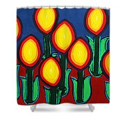 Fireflowers Shower Curtain