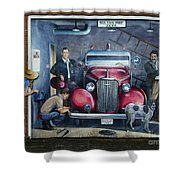 Firehall Mural Sultan Washington 1 Shower Curtain