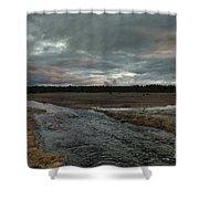 Firehole Lake Drive Sunrise - Yellowstone Np Shower Curtain