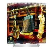 Fireman - Boots And Fire Gear Shower Curtain