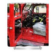 Fireman - Fire Truck With Fireman's Uniform Shower Curtain