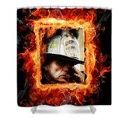 Fireman Hero Shower Curtain