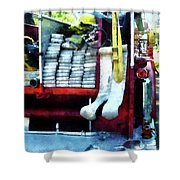 Fireman - Hoses On Fire Truck Shower Curtain