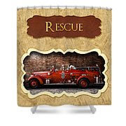 Fireman - Rescue - Police Shower Curtain by Mike Savad