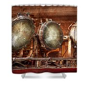 Fireman - Search Lights  Shower Curtain by Mike Savad
