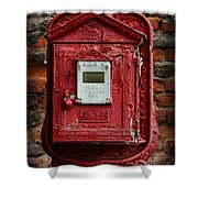 Fireman - The Fire Alarm Box Shower Curtain