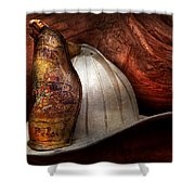 Fireman - The Fire Chief Shower Curtain by Mike Savad