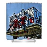 Fireman - The Fireman's Ladder Shower Curtain