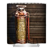 Fireman - Vintage Fire Extinguisher Shower Curtain