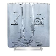 Fireman's Tool Patent Shower Curtain