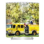 Firemen - Back At The Firehouse Shower Curtain