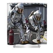 Firemen Confirm A Simulated Fire Shower Curtain
