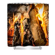 Fireplace II Shower Curtain